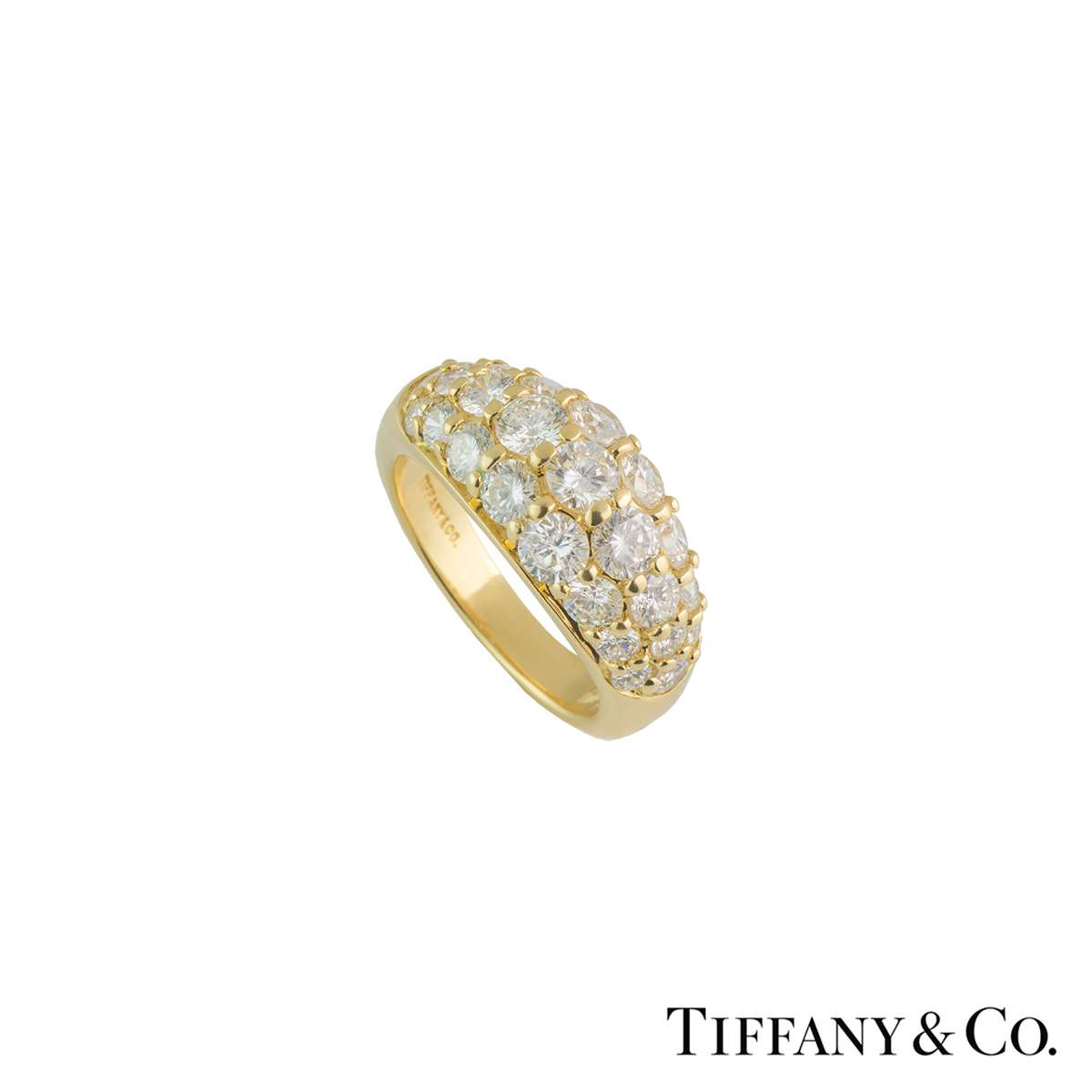 Tiffany & Co Diamond Bombe Ring 2.20ct